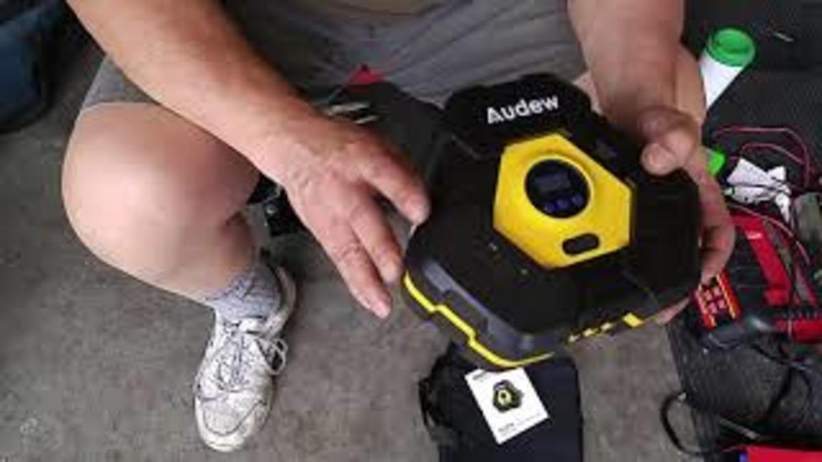 Product Review:  Audew Tire Inflator / Air Compressor (With Video)