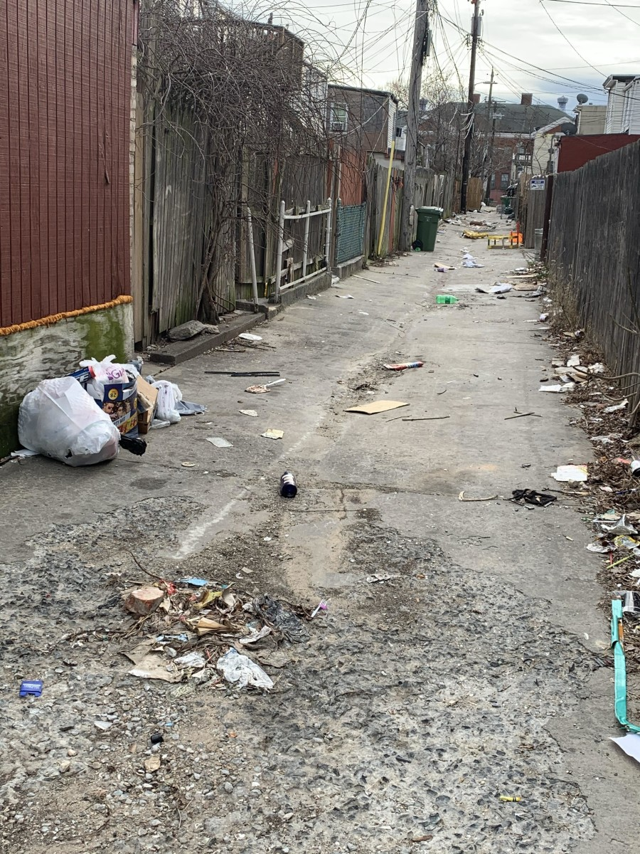 A typical alley in Pigtown.