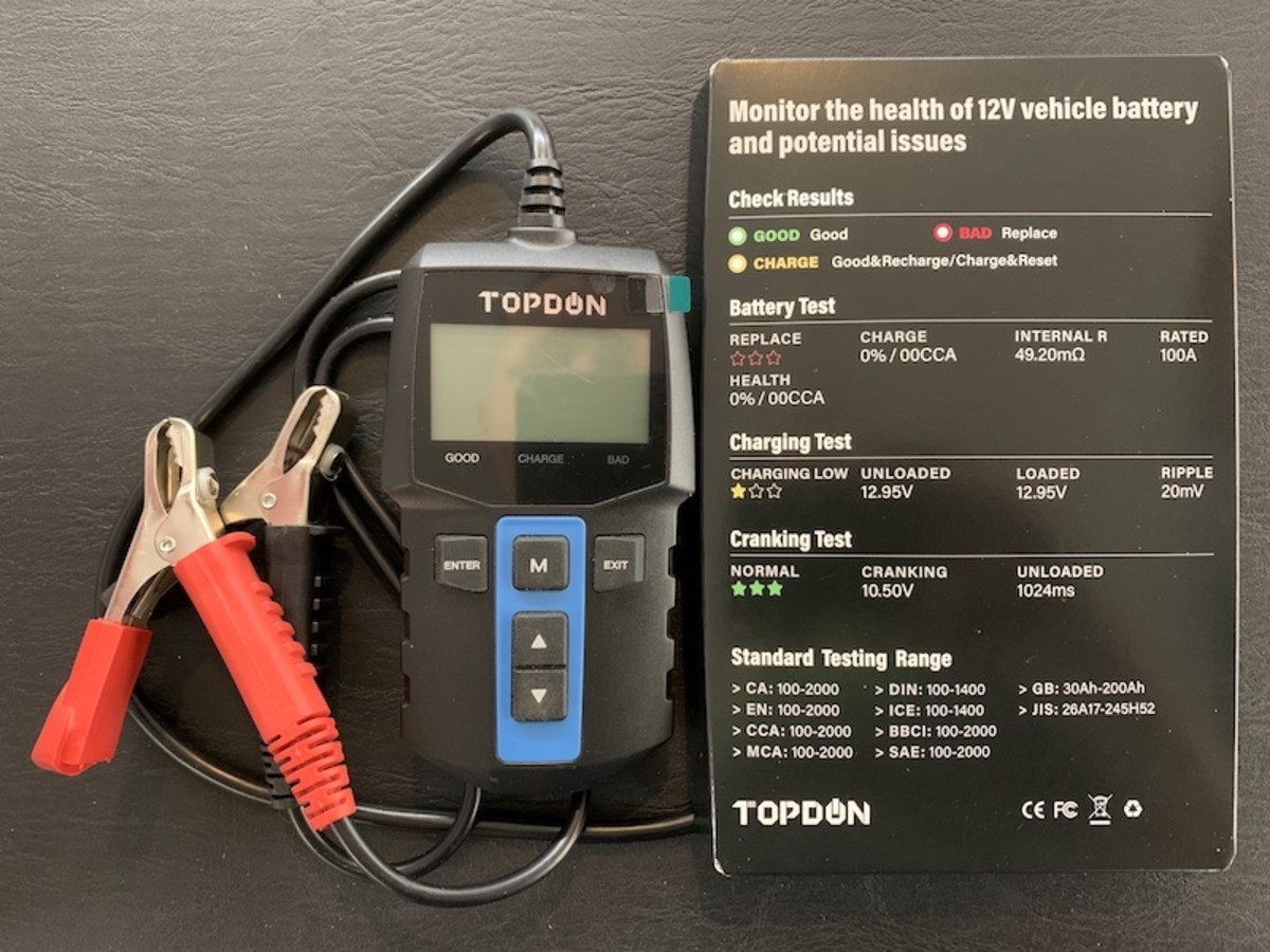 TOPDON BT100 battery and alternator tester