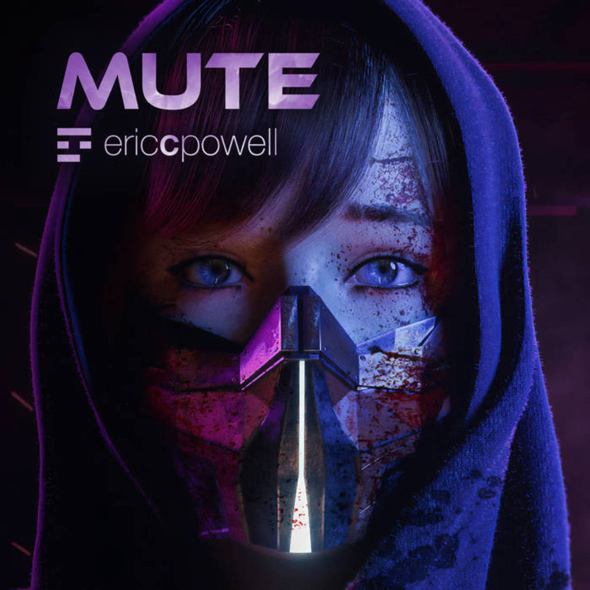 """Cover art for the Synth EP """"Mute,"""" by Eric C. Powell"""