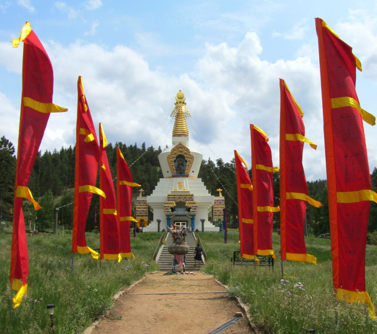 The Great Stupa of Dharmakaya in Colorado