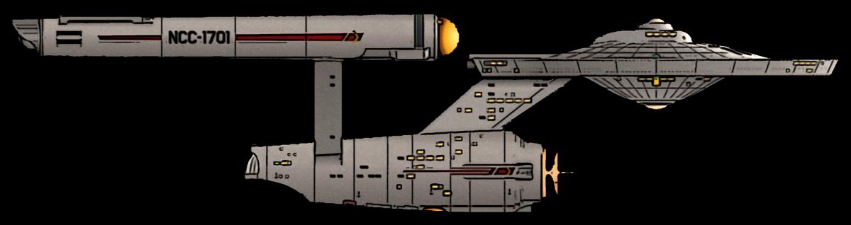 A Constitution Class heavy cruiser