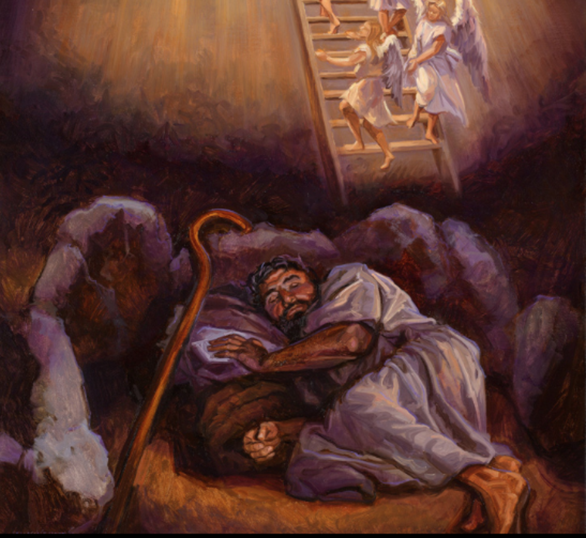 Jacob dreamed of a miraculous ladder that linked heaven and earth.