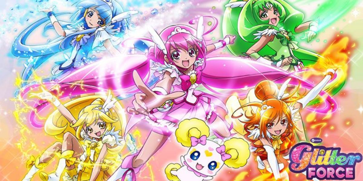 "A Netflix ad for the ""Pretty Cure"" dub, ""Glitter Force."""