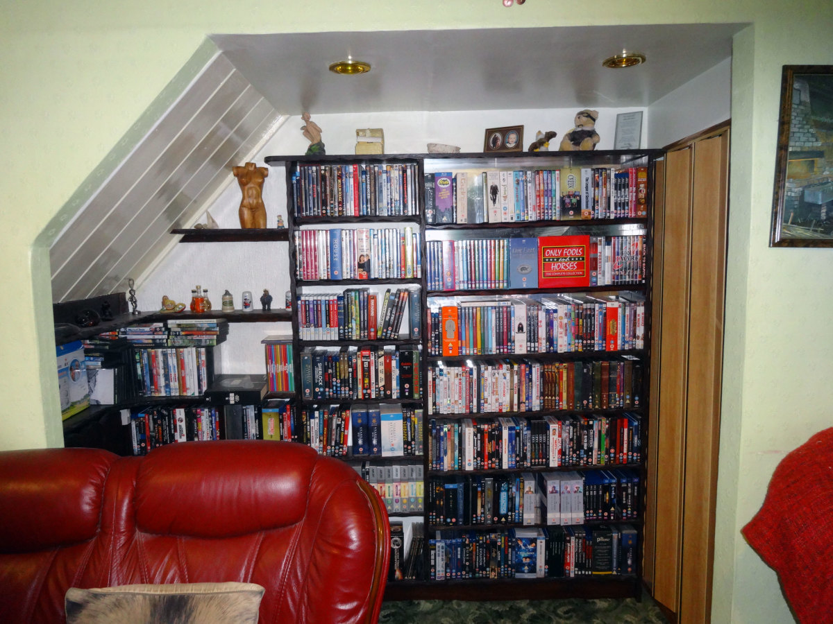 Retrofitting Additional Shelving to Built-in DVD Storage Unit