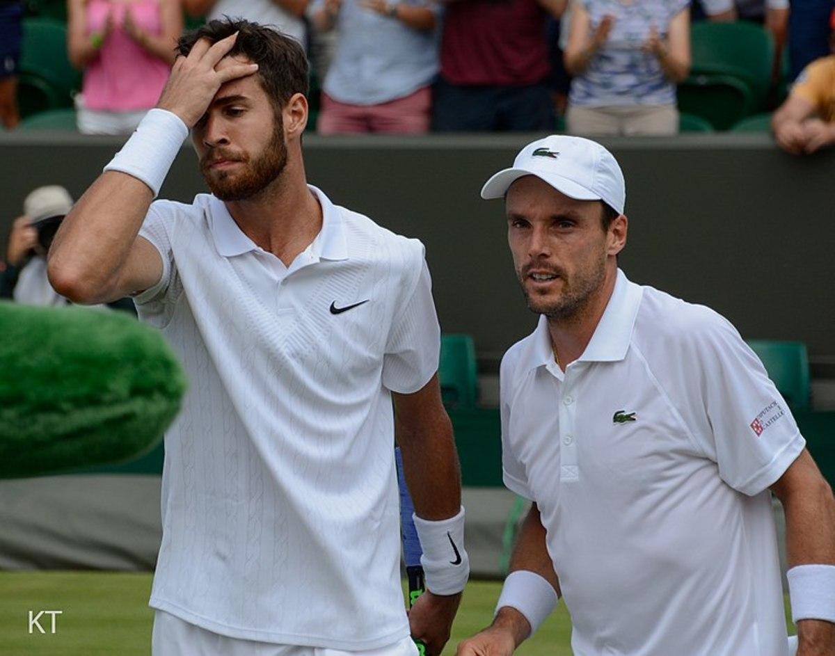 Roberto Bautista Agut beat Karen Khachanov 6-3, 7-6, 6-1.  Day 5 of Wimbledon 2019.