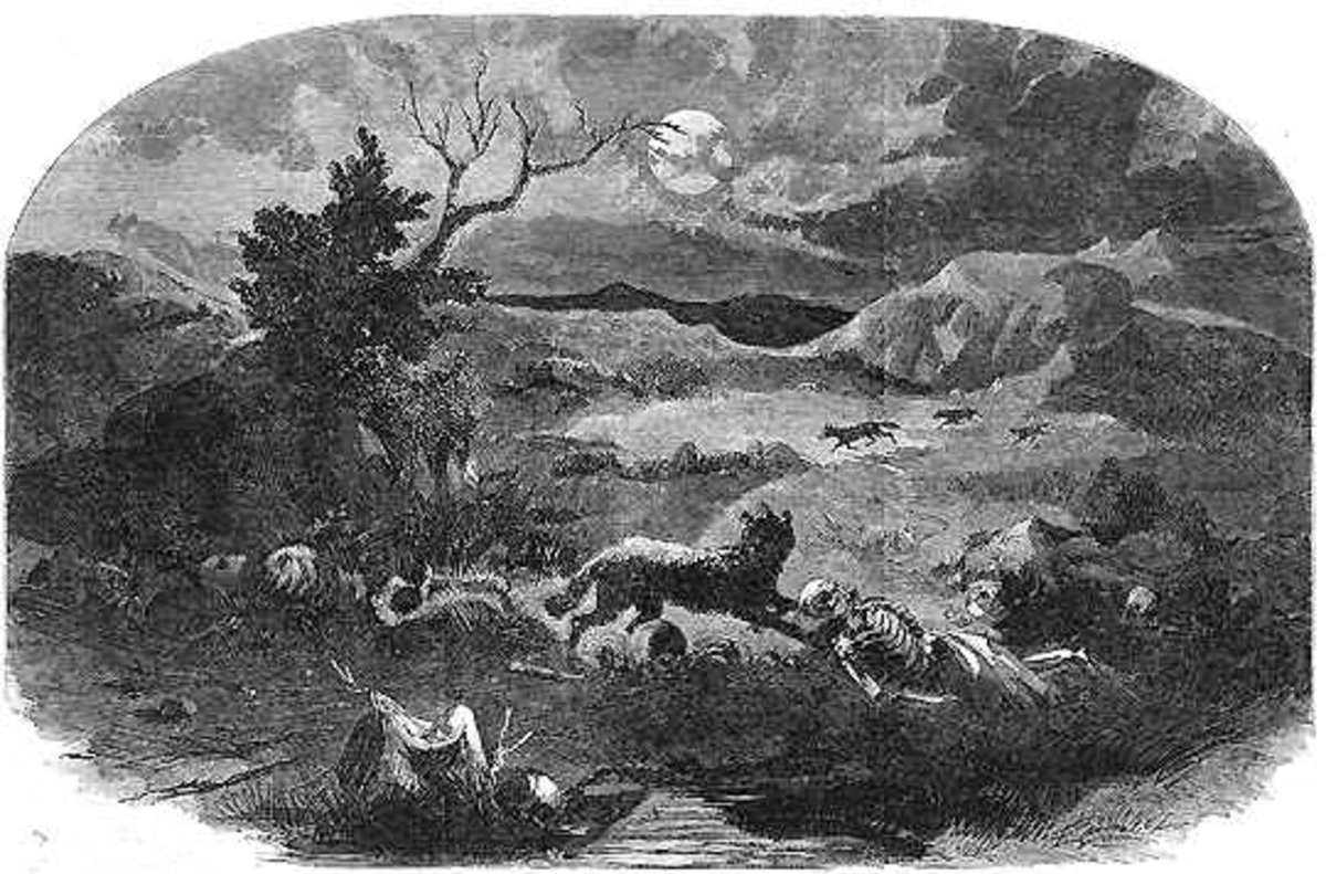 Mountain Meadows Massacre Site in 1859