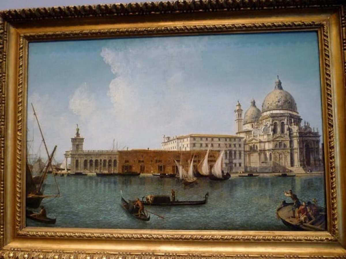 View of the Dogana and S. Maria Della Salute, Venice by Michele Marieschi