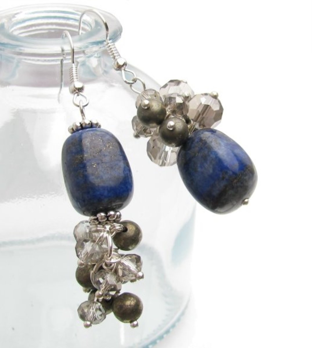 Gemstone Cluster Earrings, Two-ways!