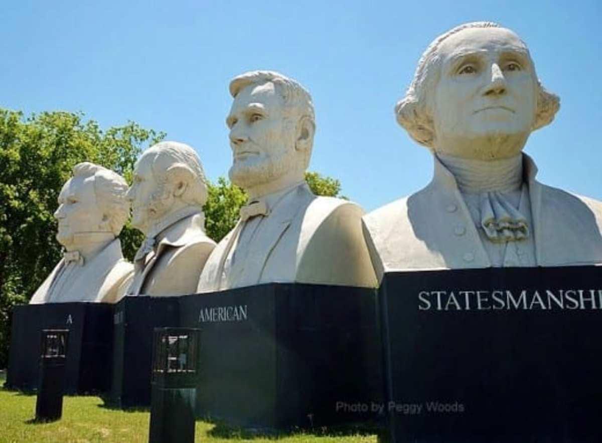 American Statesmanship Park by Sculptor David Adickes