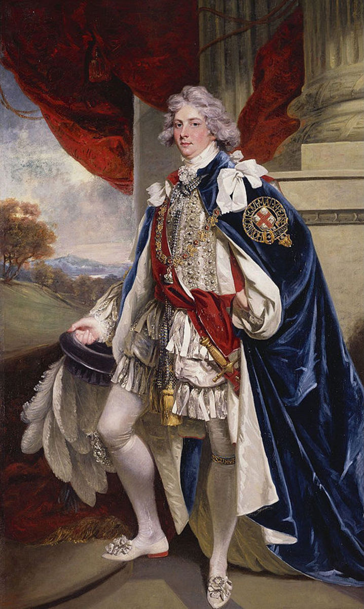 As Prince of Wales, George loved dressing up in extravagant costumes.