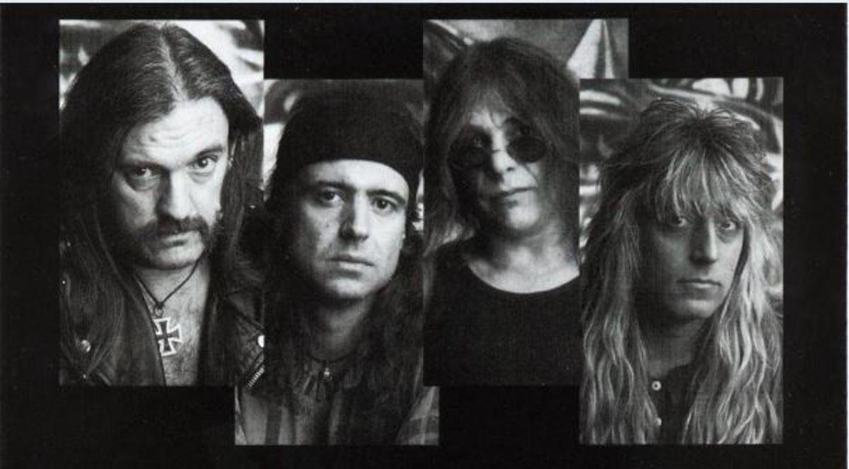 Motorhead 1995, L-R: Lemmy, Phil Campbell, Wurzel, Mikkey Dee