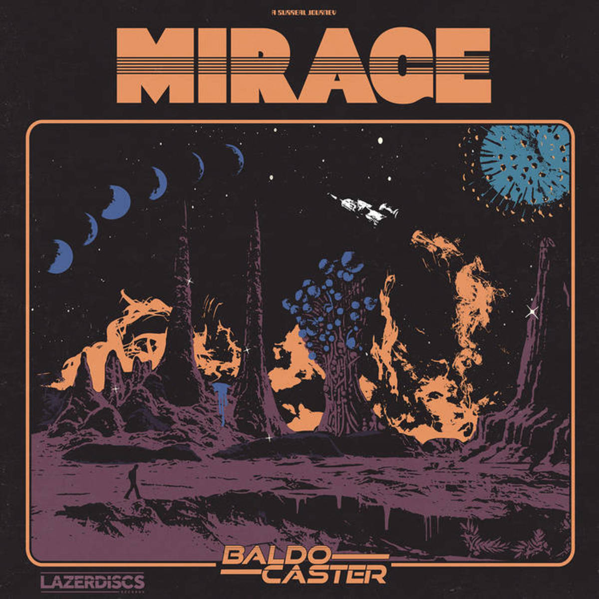 "Cover art for Baldocaster's new album, ""Mirage"""