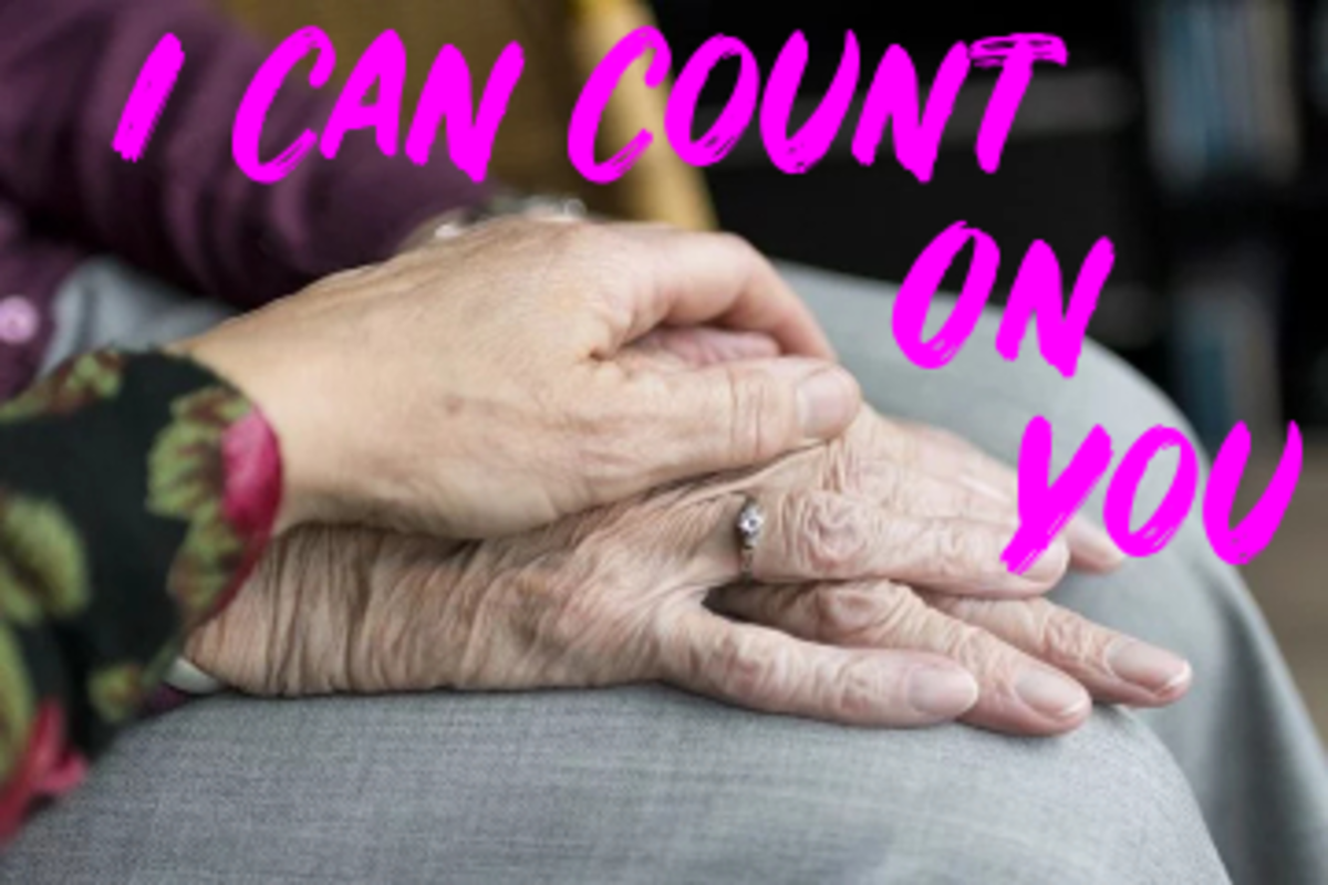 Poem: I Can Count On You