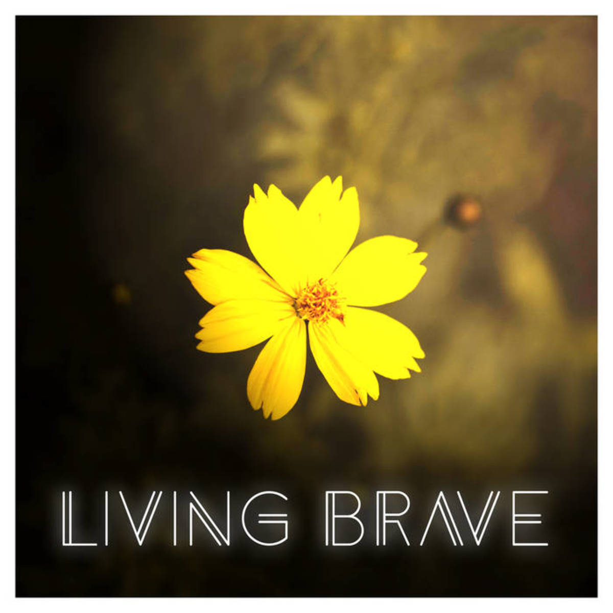 "Artwork for The Ocean Beneath's (feat. Keeper of Bees) new single, ""Living Brave"""