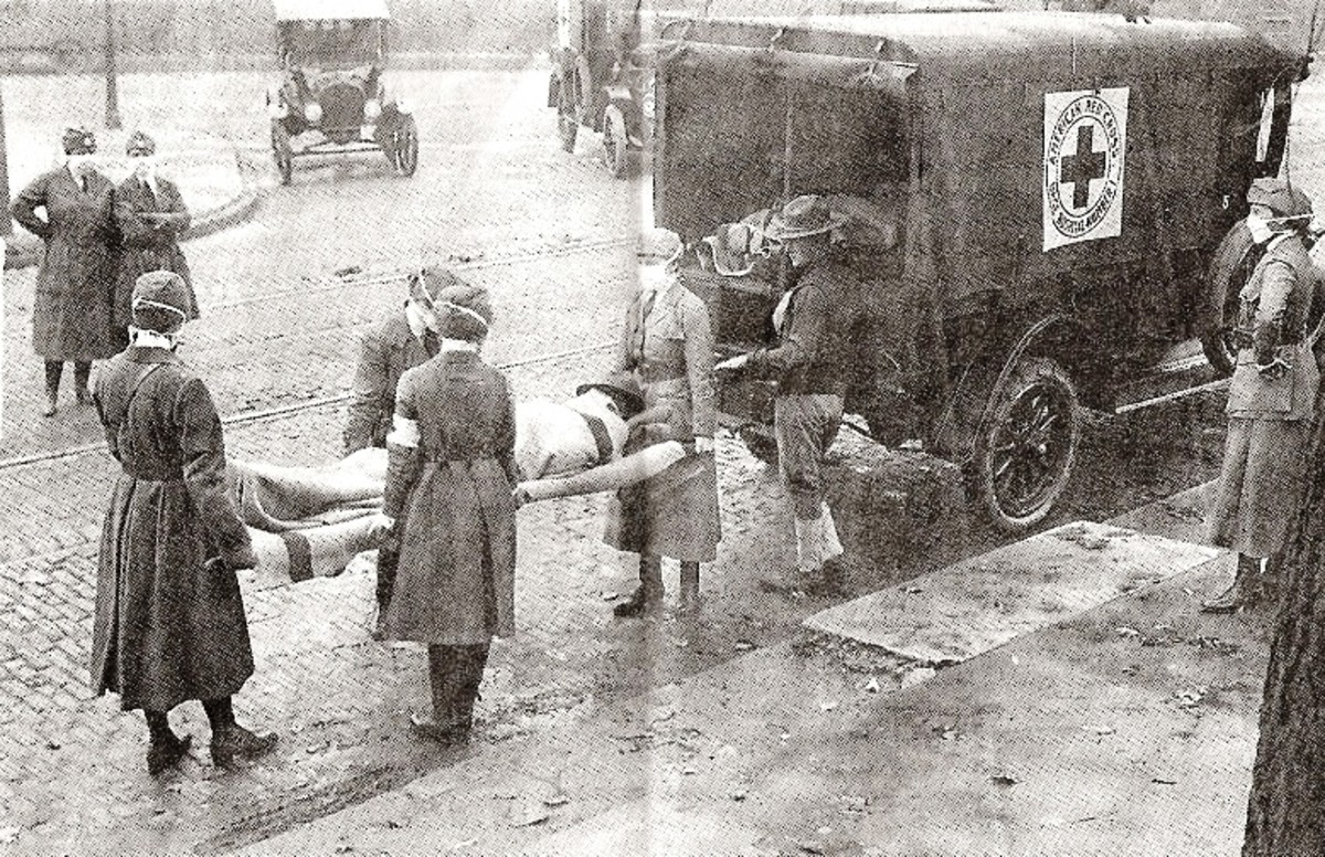 Not surprisingly many medical workers, who cared for the victims of the Spanish Flu, also became ill and sometimes died.