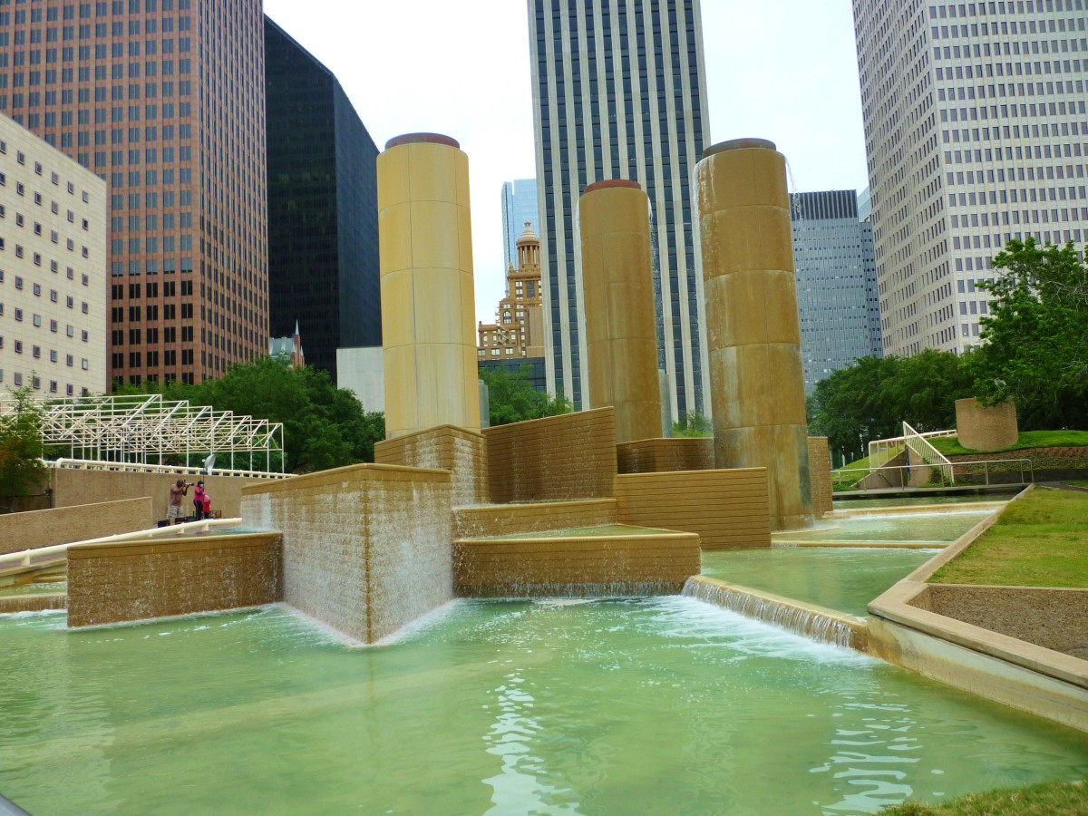 Tranquillity Park in Downtown Houston Commemorates Moon Landing