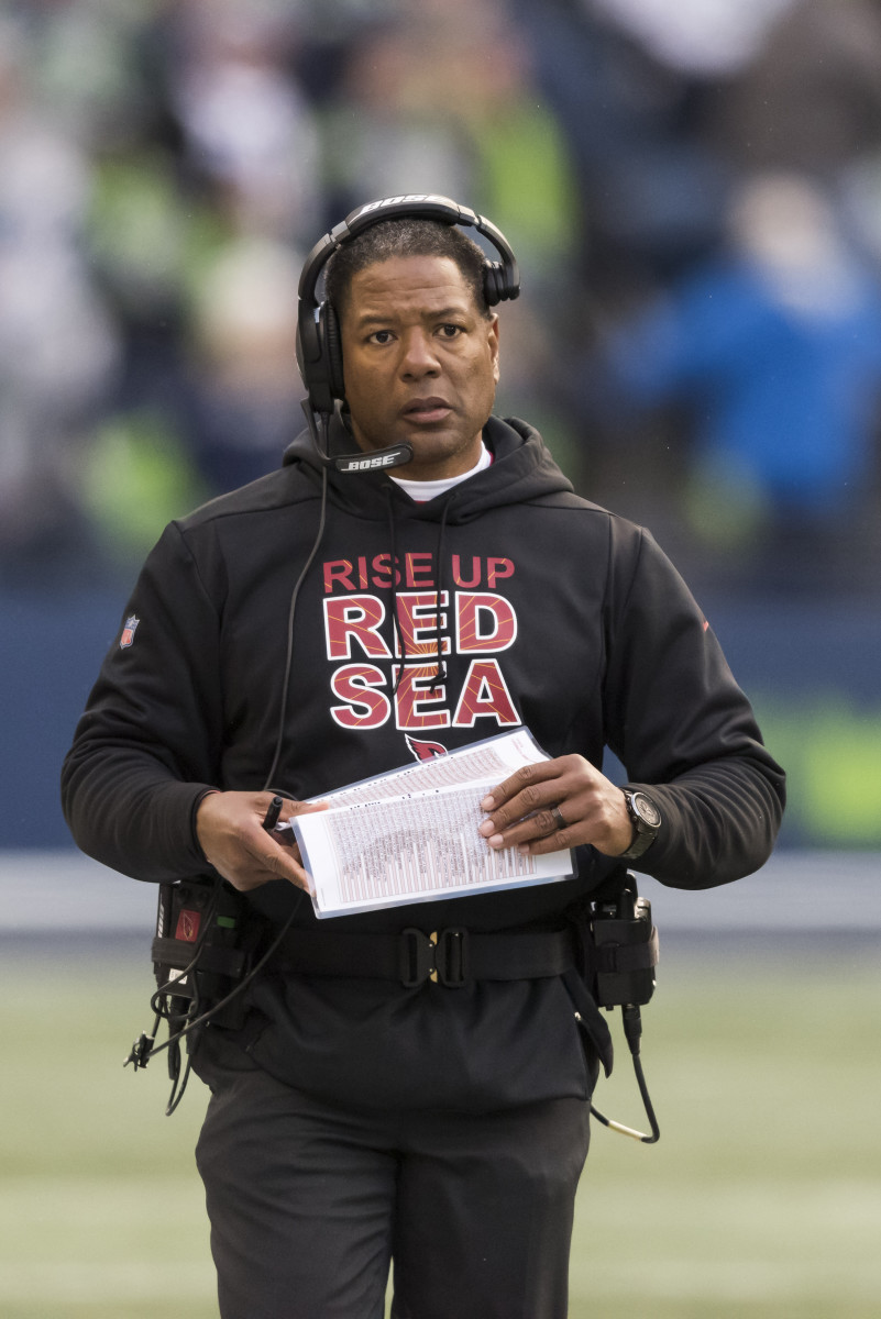Former Arizona Cardinals head coach, Steve Wilks, is seen during a 2018 game against the Seattle Seahawks. He became the first head coach for the Cardinals since the 1950s to last only one season in the role.