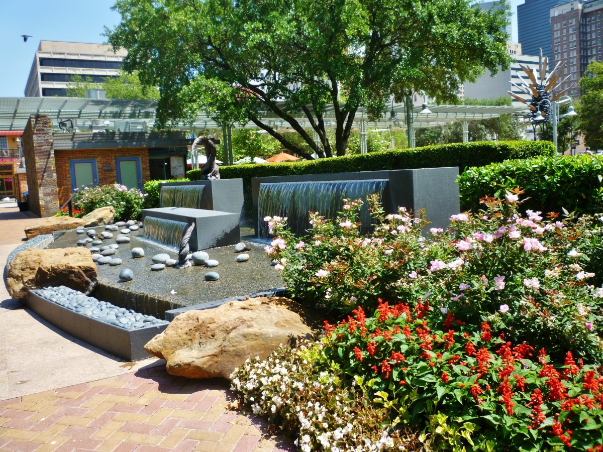 Lauren's Garden in Market Square Park of Houston