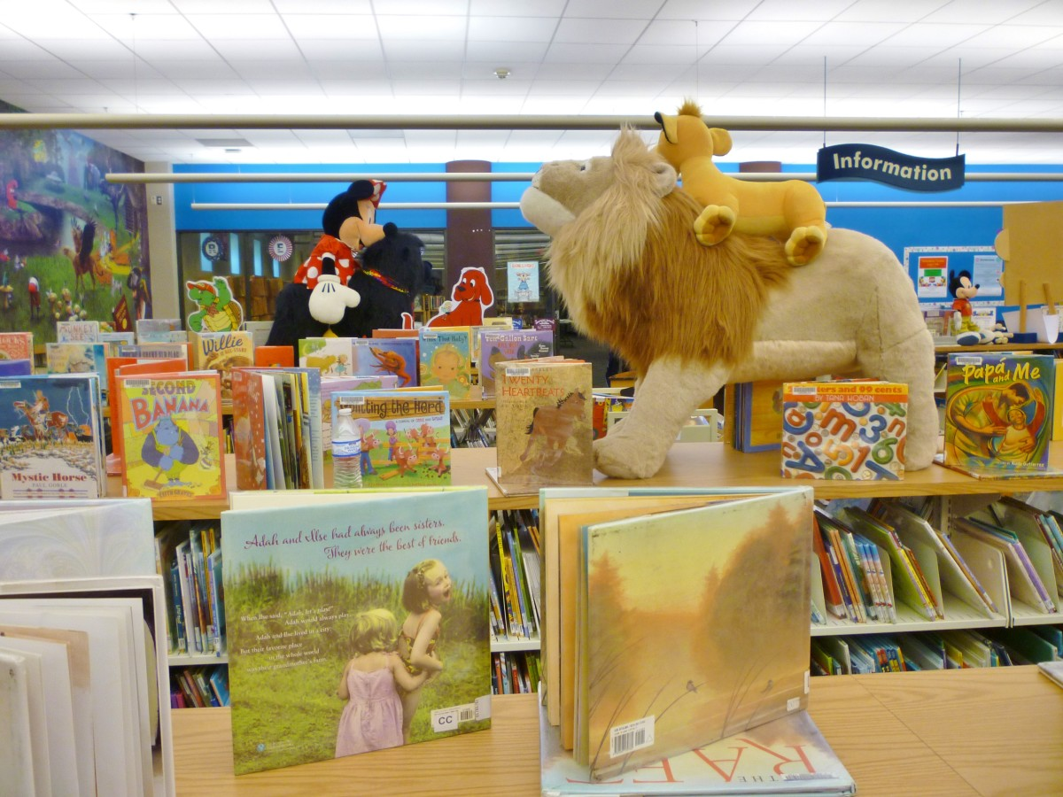 Children's section of the Barbara Bush Library