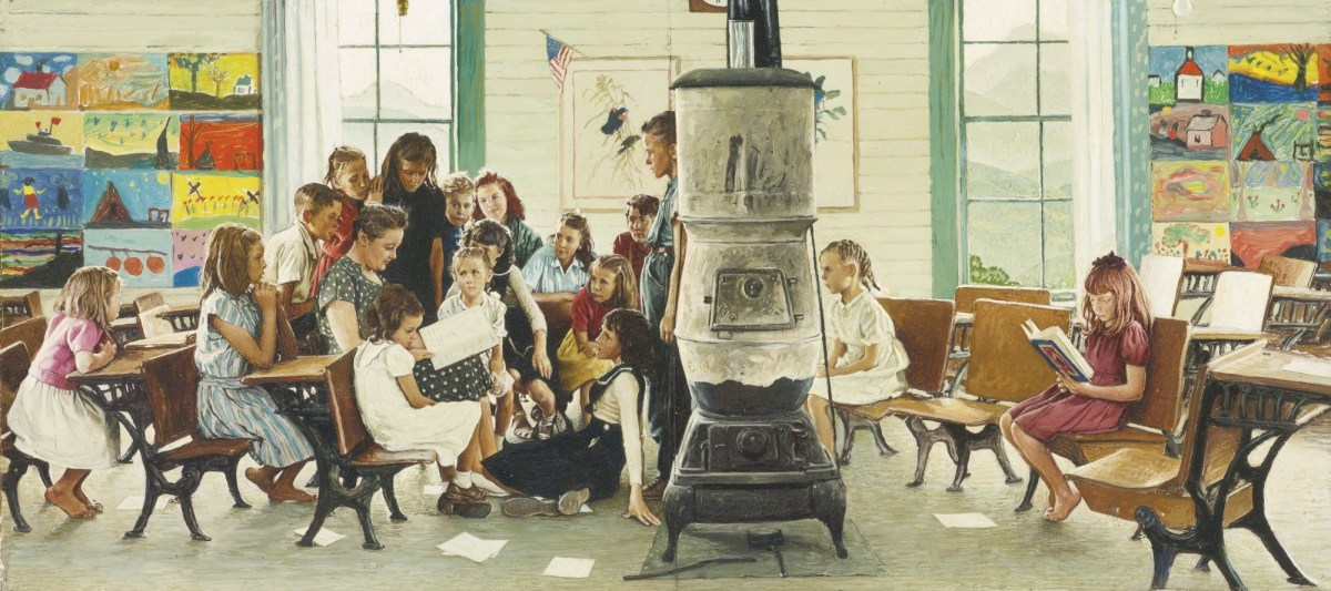 Painting by Normal Rockwell