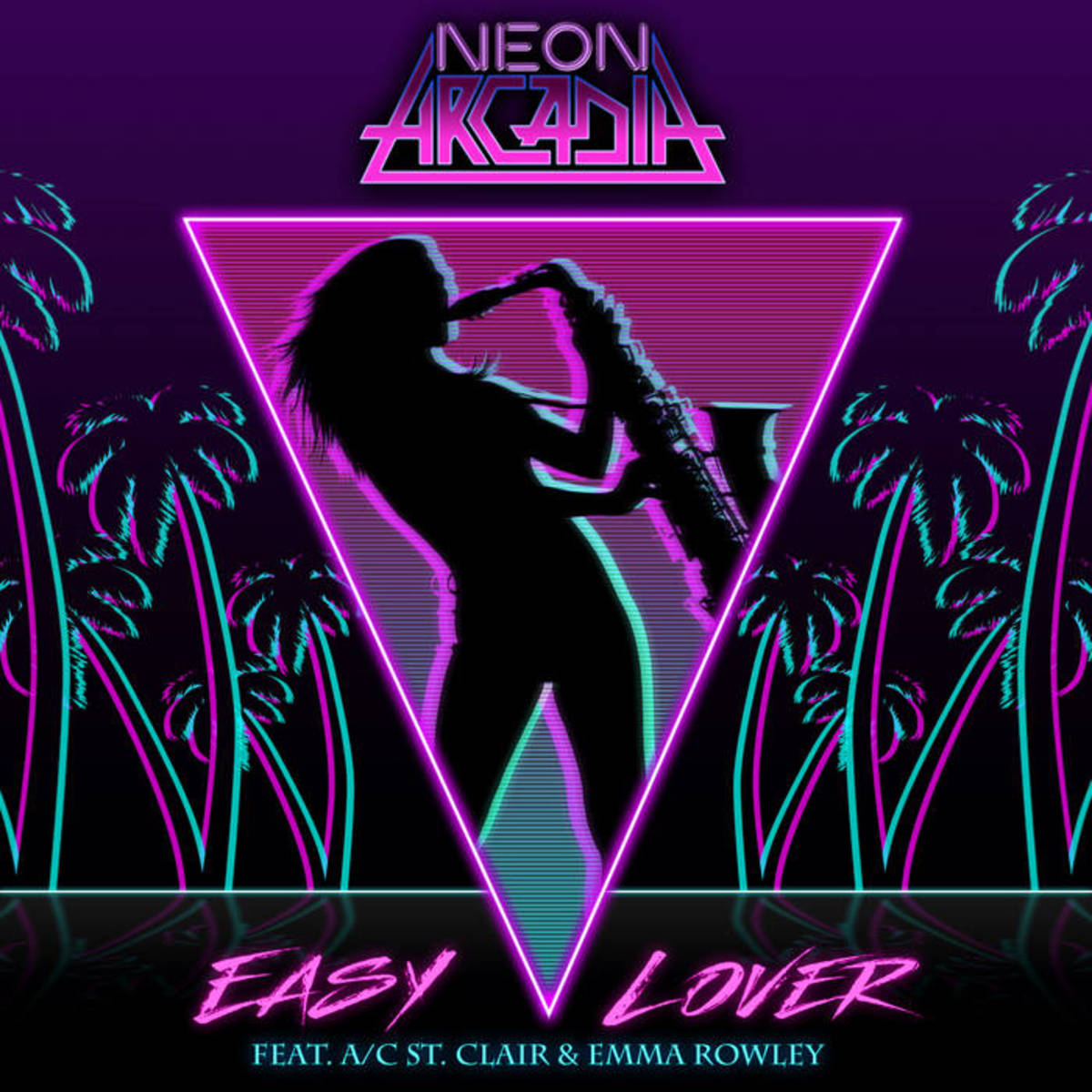 """Artwork for """"Easy Lover,"""" by Neon Arcadia"""