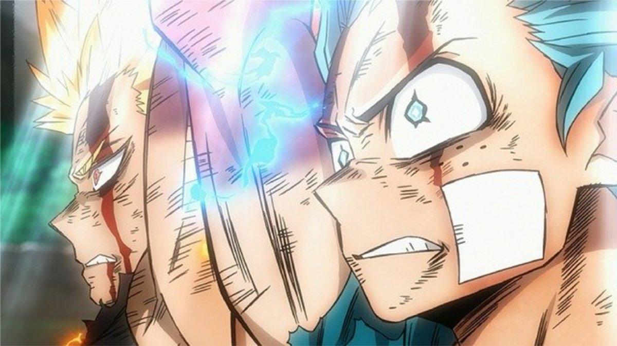 "Bakugo and Deku in, ""My Hero Academia: Heroes Rising."""