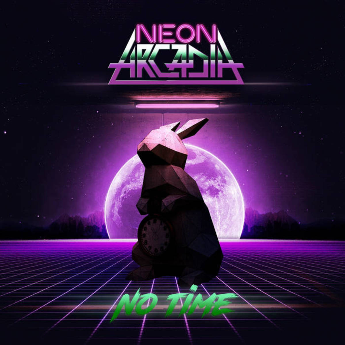 synthwave-single-review-no-time-by-neon-arcadia