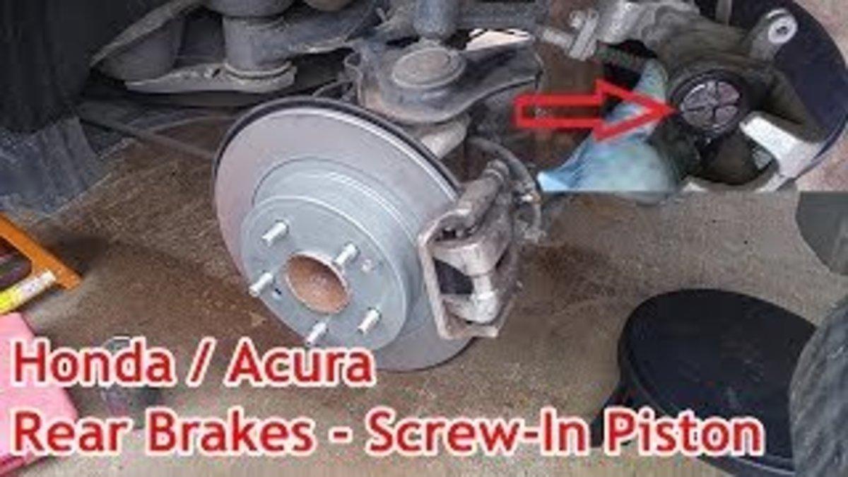 2014 Honda Accord Sport rear brake caliper assembly