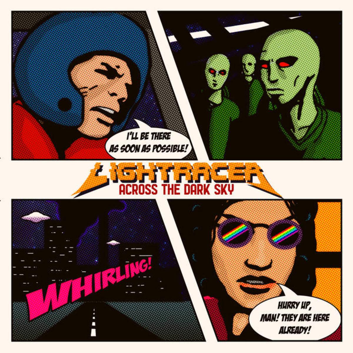 """Album artwork for """"Across the Dark Sky"""" by Lightracer"""