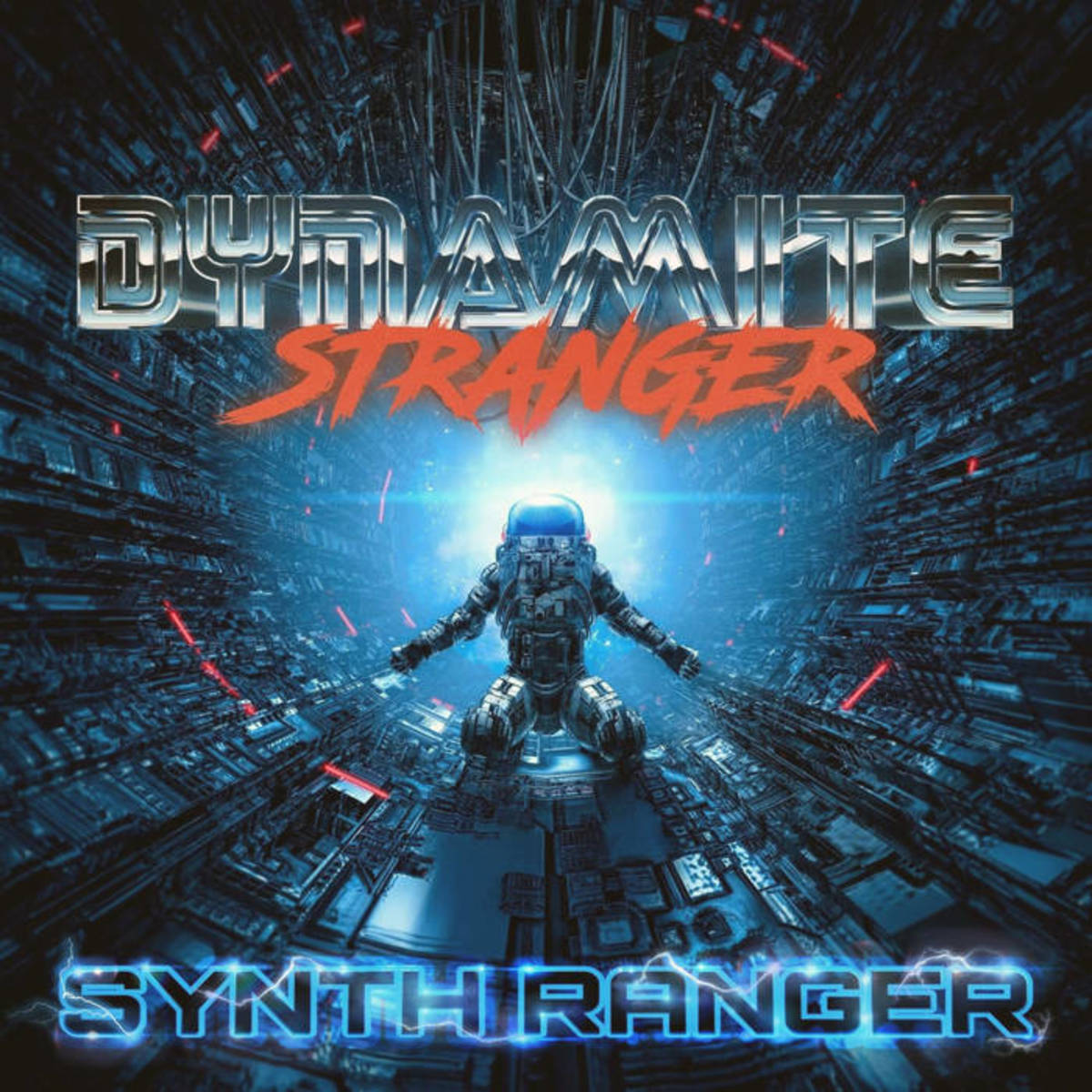 "Cover art for the album ""Synth Ranger,"" by Dynamite Stranger"