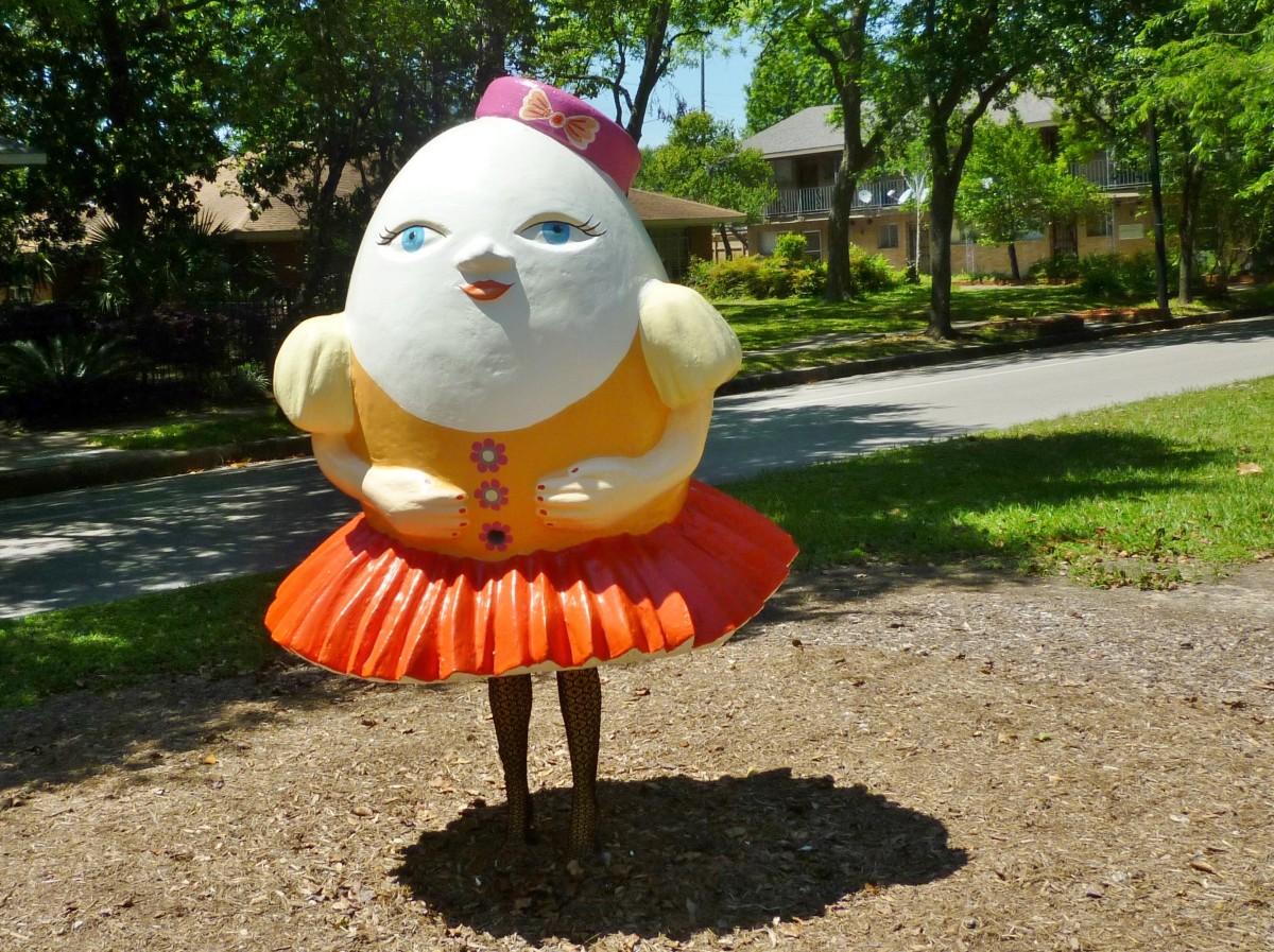 Humpty Dumpty 2016 by Yuliya Lanina at Art Trek, 400 Heights Blvd., Houston, Texas 77007