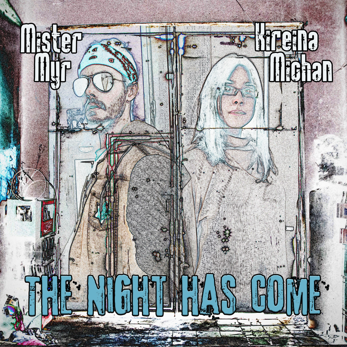 """Single artwork for """"The Night Has Come,"""" by Kirena Michan and Mister Myr"""