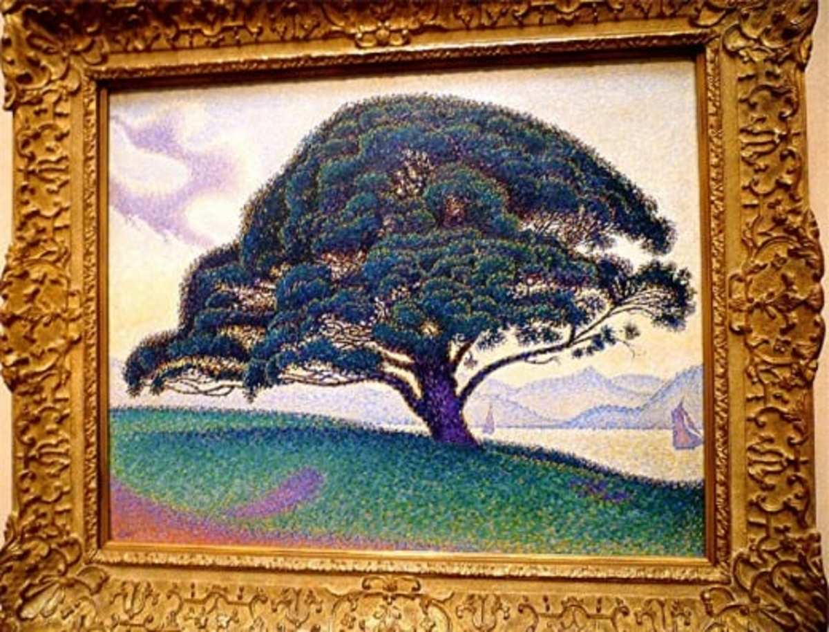 The Bonaventure Pine by Paul Signac: Pointillism Art