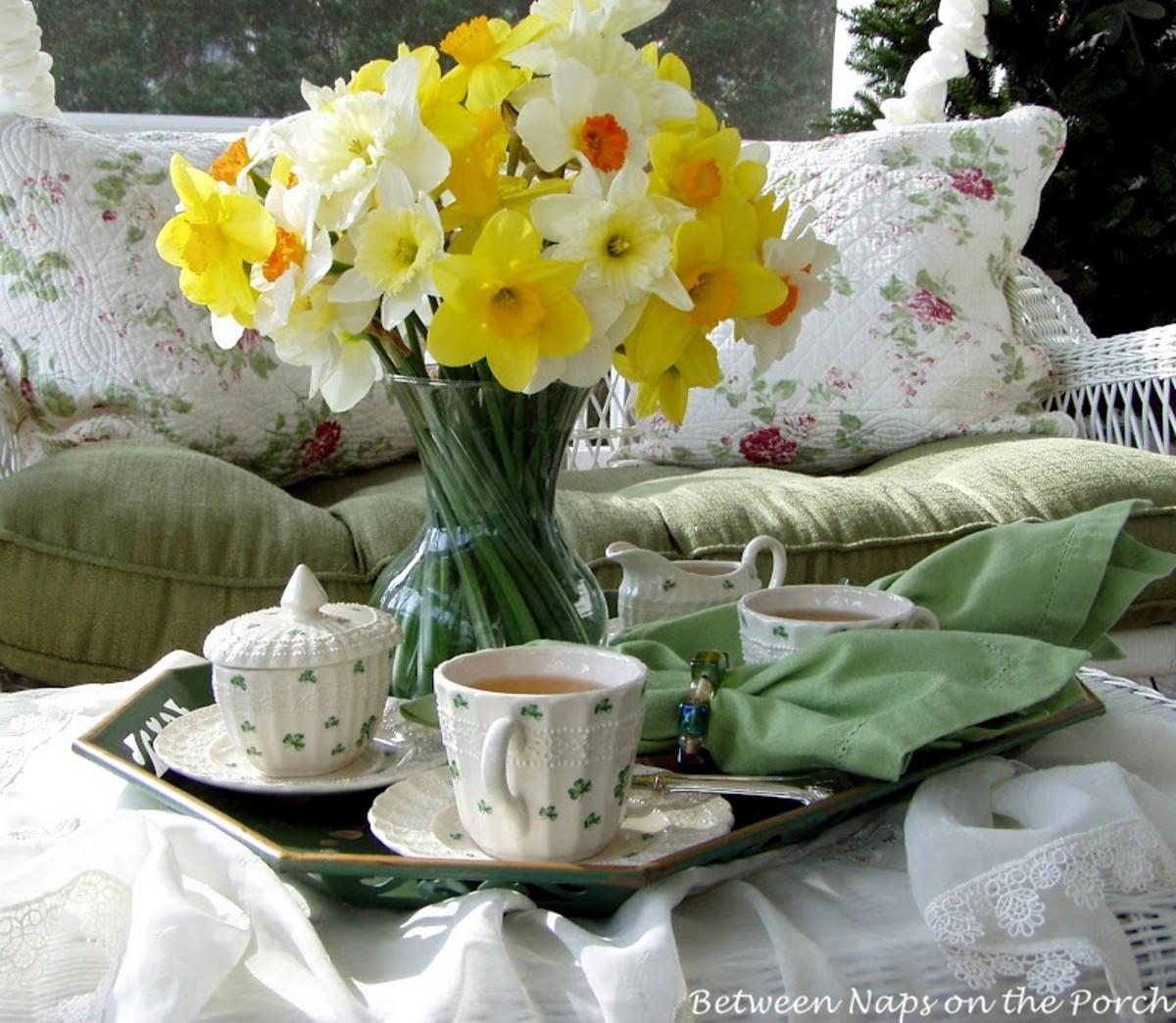 odonell-drinks-tea-on-st-patricks-day