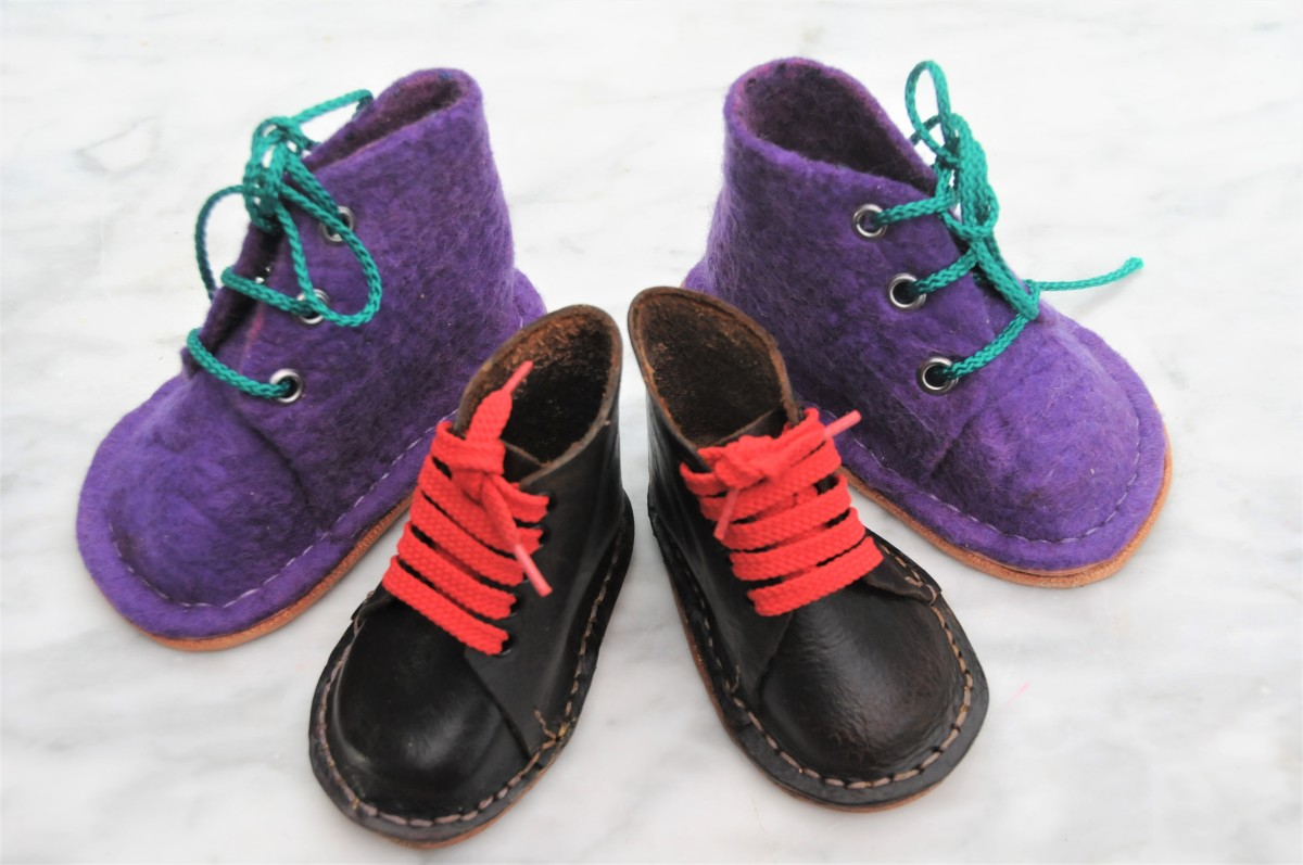 How to Make Wet Felted Boots With Leather Soles