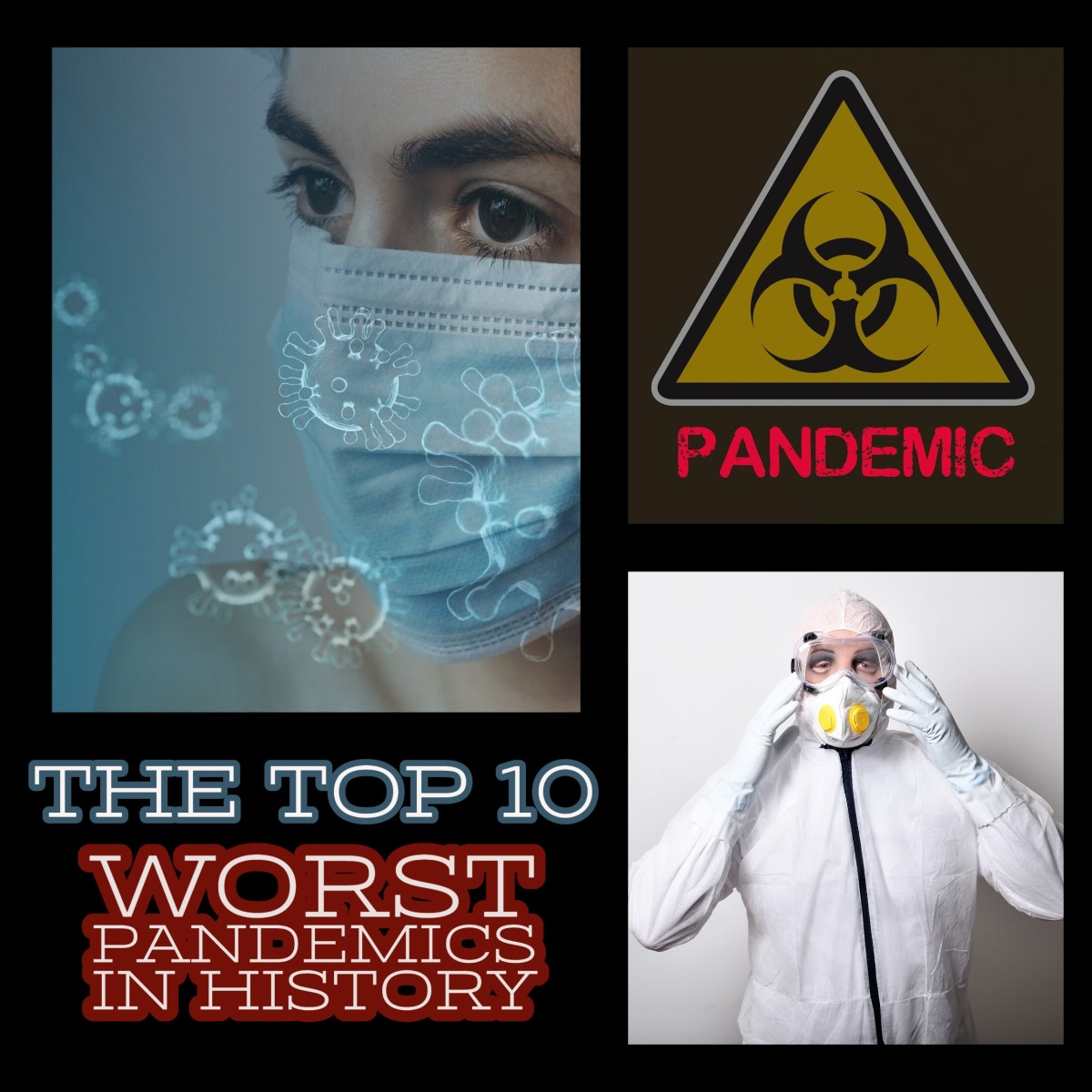 The 10 worst pandemics in human history.