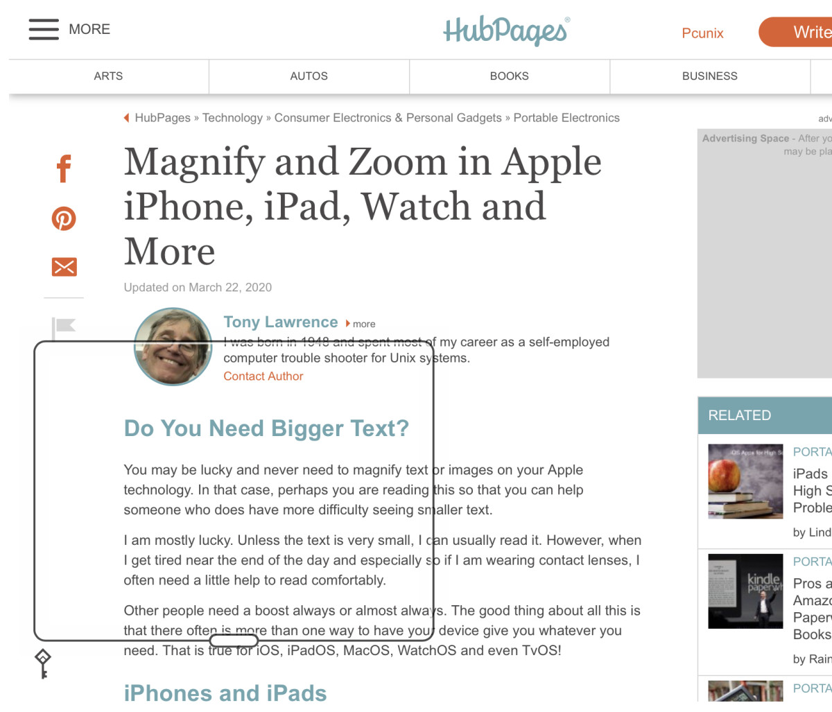 Magnify and Zoom in Apple iPhone, iPad, Watch and More
