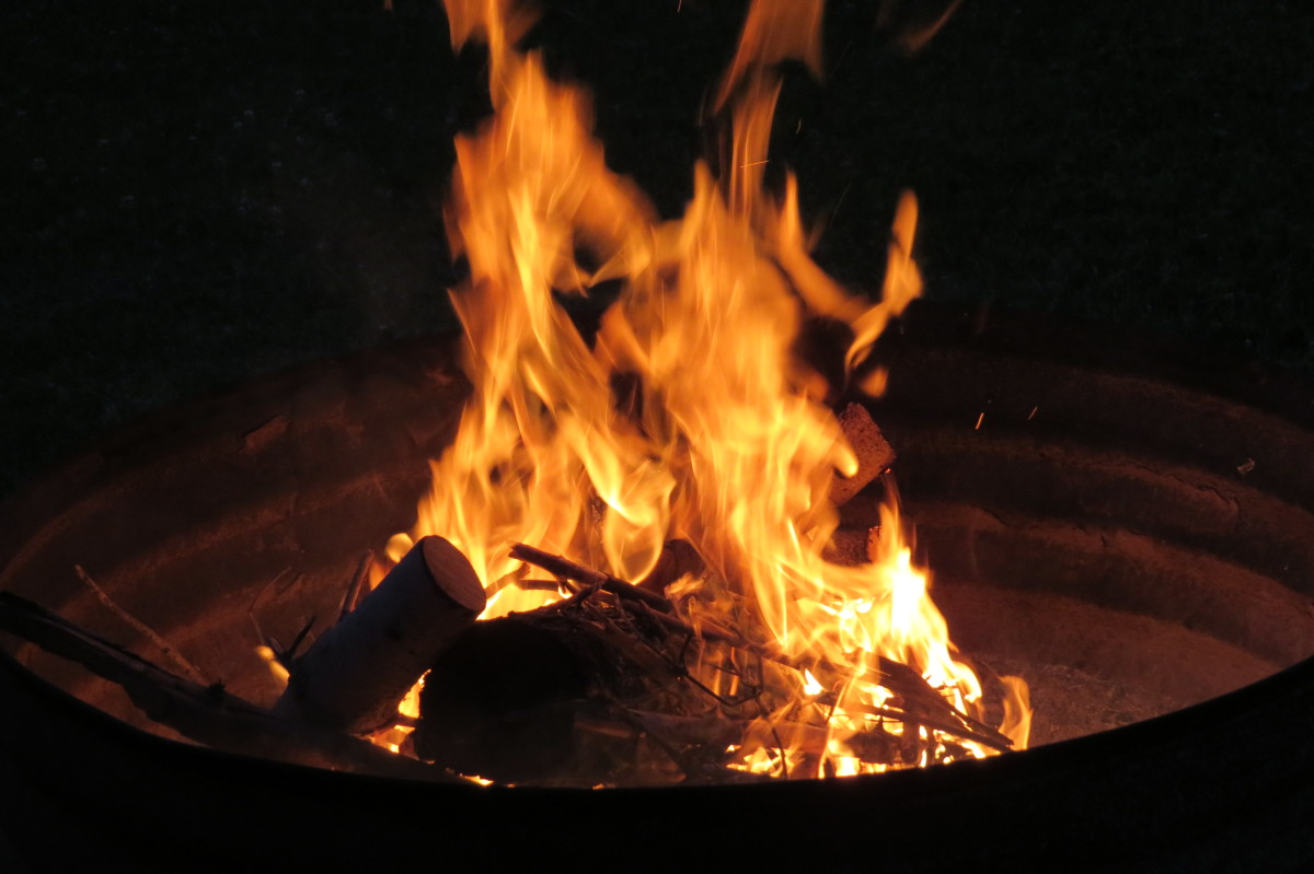 A Warmly Lit Flame