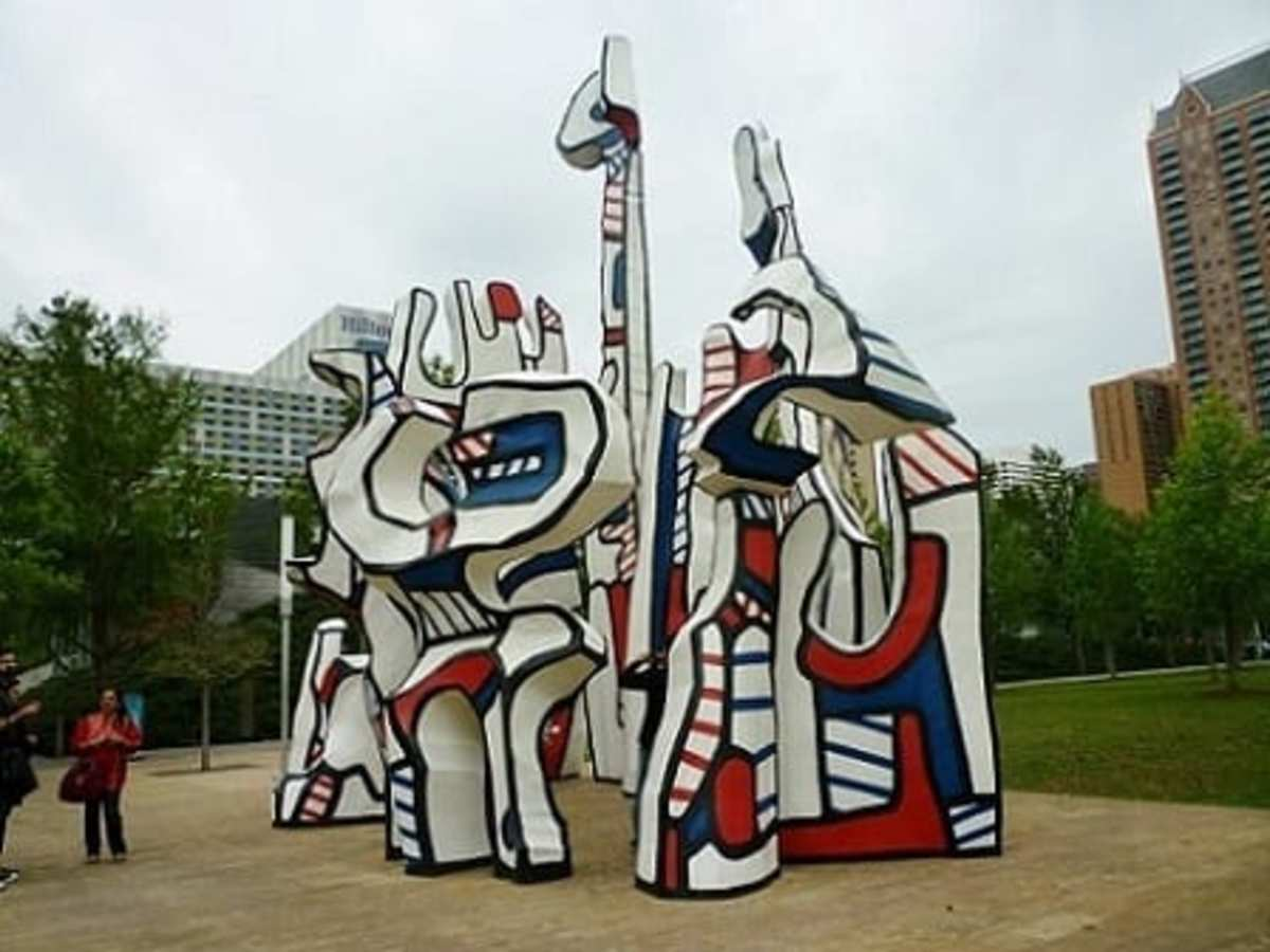"""Monument au Fantôme"" by Jean Dubuffet in downtown Houston"