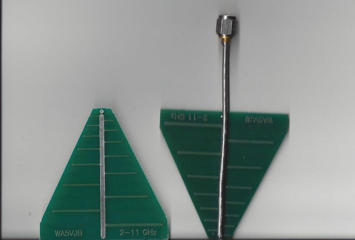 Yagis have more gain than similarly sized log periodic antennas like these.
