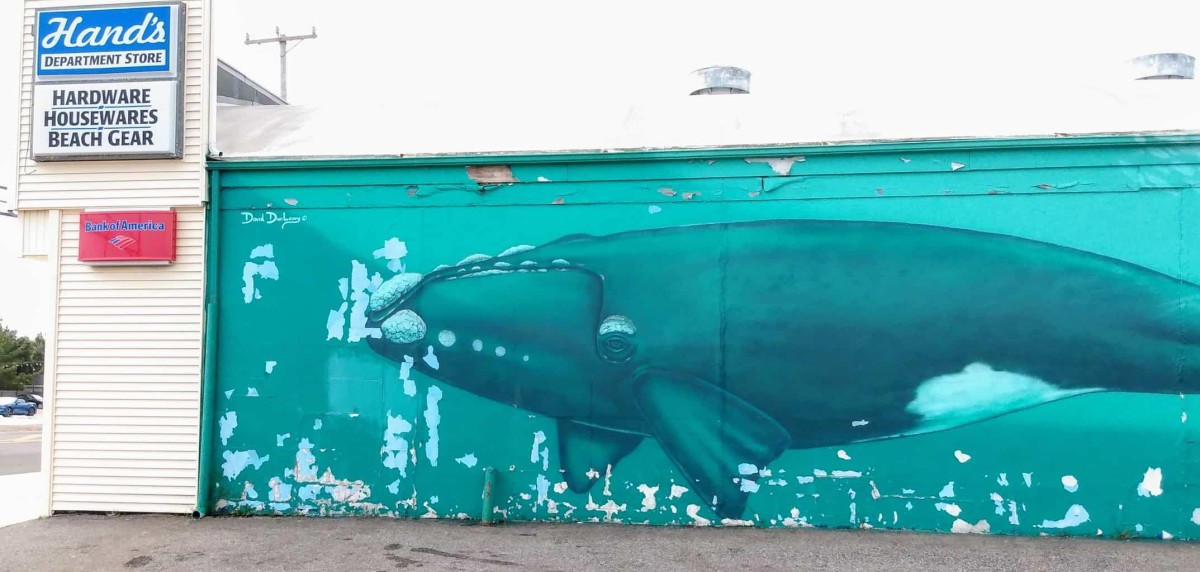 The iconic whales on the north side of Hands.