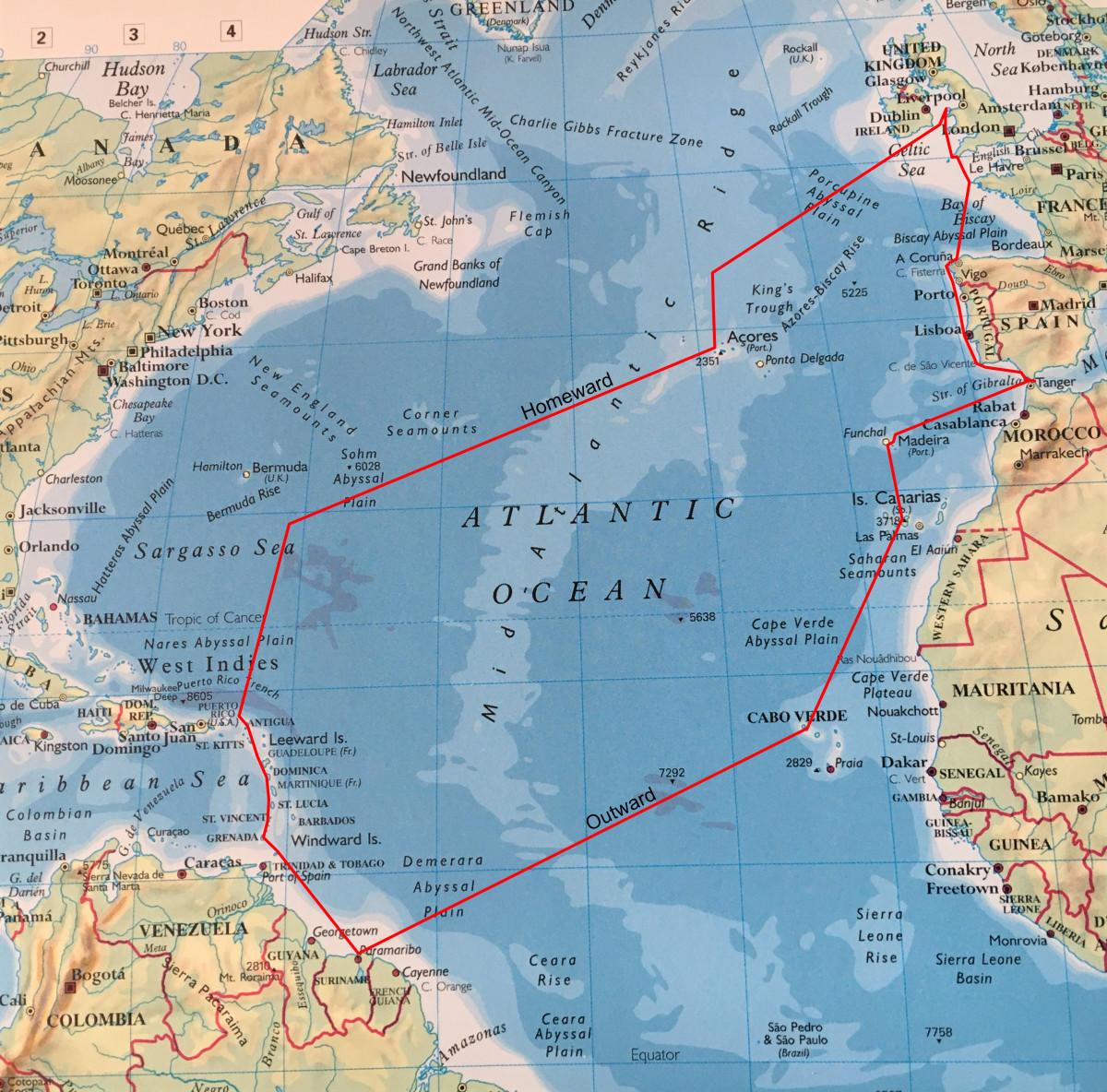 The Atlantic Voyage of Plancius 2018-2019