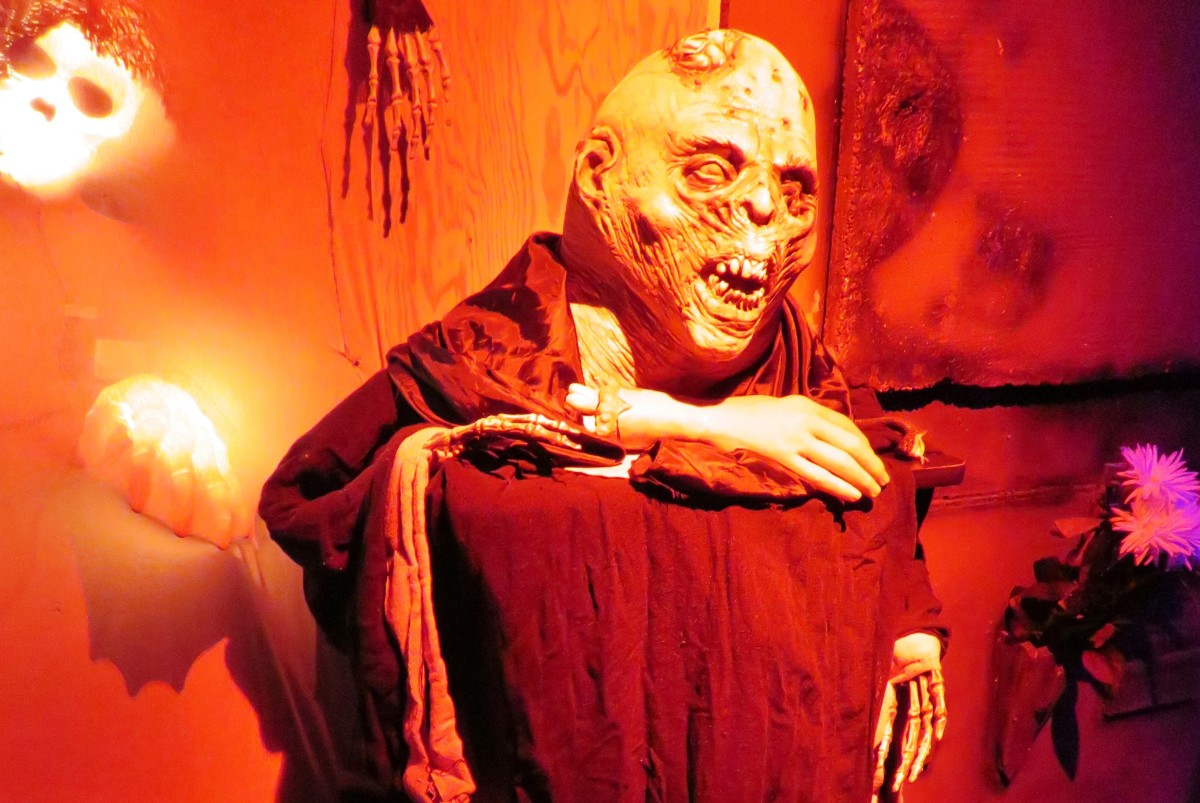 The National Museum of Funeral History in Houston, TX, hosts a haunted house  every Halloween.