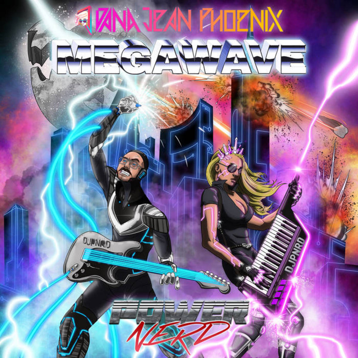 """Synthwave Single Review: """"Megawave"""" by Dana Jean Phoenix and Powernerd"""
