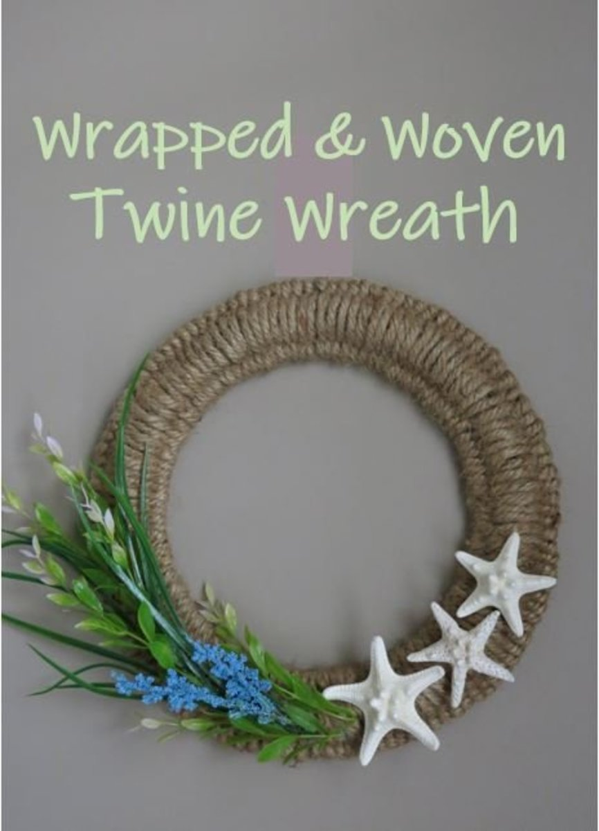 DIY Craft Tutorial: Wrapped & Woven Twine Wreath