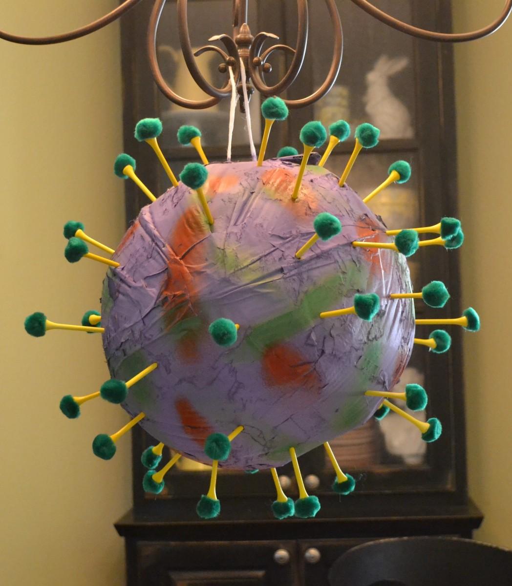 Make your own coronavirus pandemic piñata!