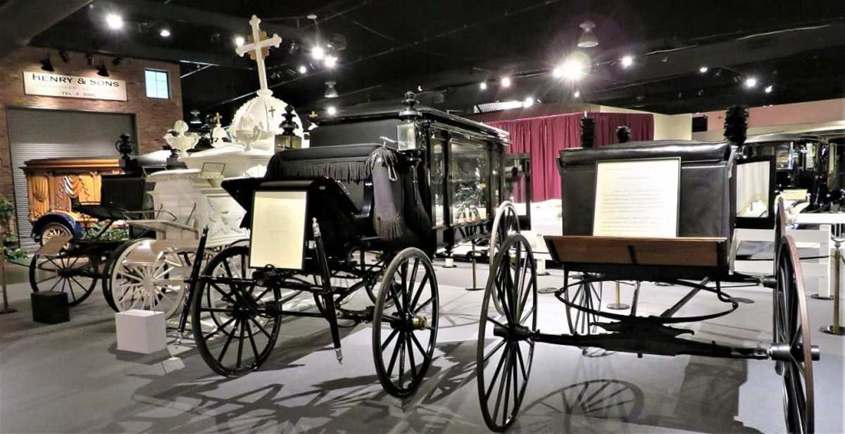 Beautiful hearses at the National Museum of Funeral History