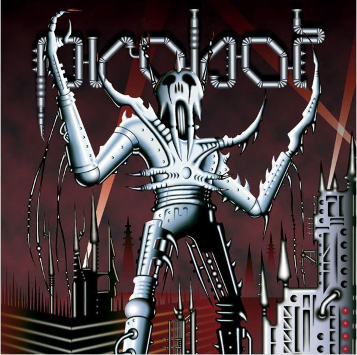 """""""Probot"""" CD cover art by Michel """"Away"""" Langevin of VoiVod"""