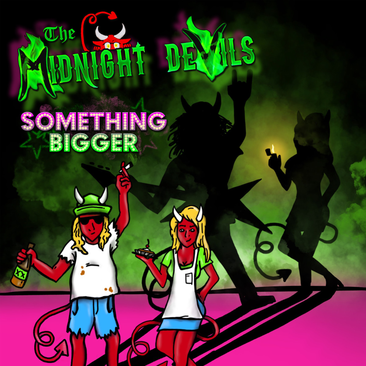 "The Midnight Devils ""Something Bigger"" album cover"